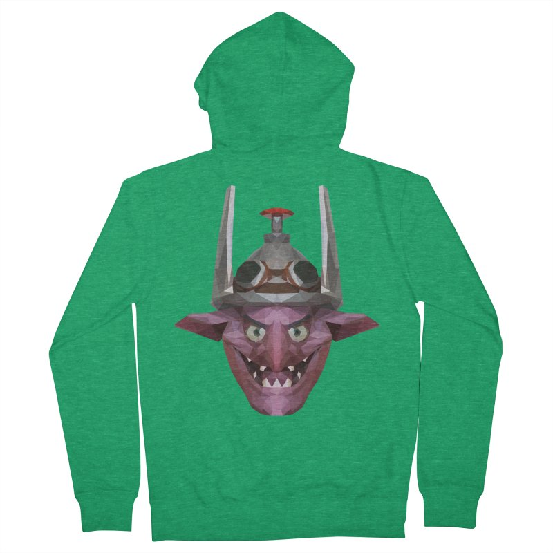 Low Poly Art - Timbersaw Men's French Terry Zip-Up Hoody by lowpolyart's Artist Shop