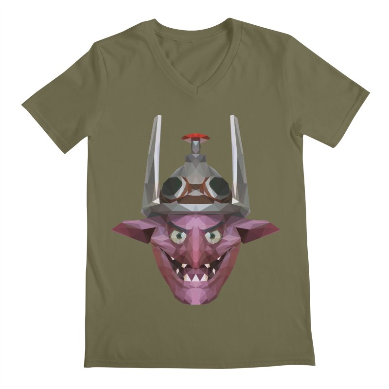 Low Poly Art - Timbersaw Men's Regular V-Neck by lowpolyart's Artist Shop