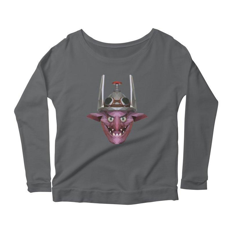 Low Poly Art - Timbersaw Women's Scoop Neck Longsleeve T-Shirt by lowpolyart's Artist Shop