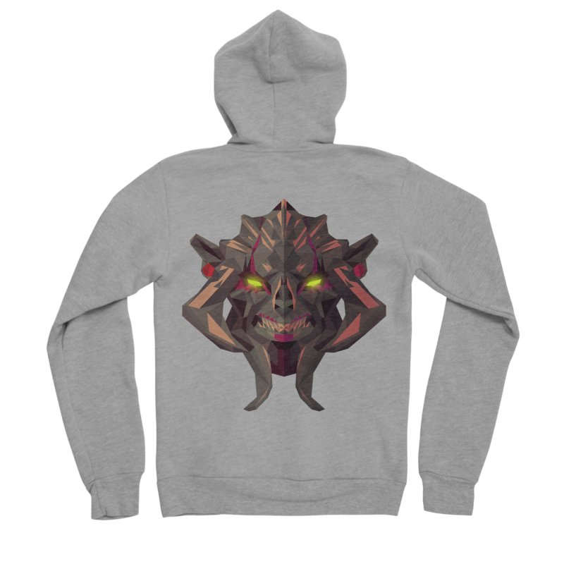 Low Poly Art - Huskar Women's Sponge Fleece Zip-Up Hoody by lowpolyart's Artist Shop