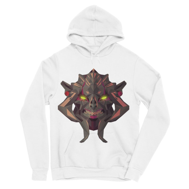 Low Poly Art - Huskar Women's Sponge Fleece Pullover Hoody by lowpolyart's Artist Shop