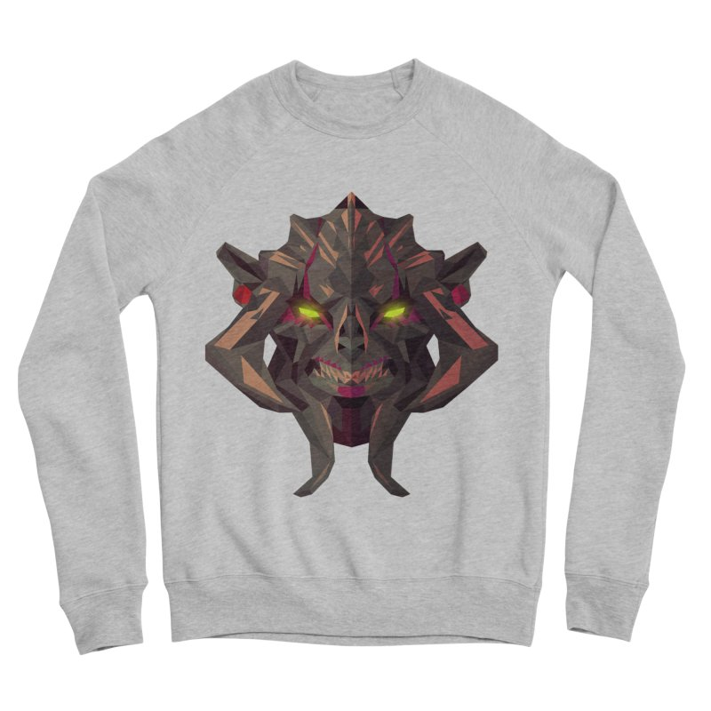 Low Poly Art - Huskar Women's Sponge Fleece Sweatshirt by lowpolyart's Artist Shop