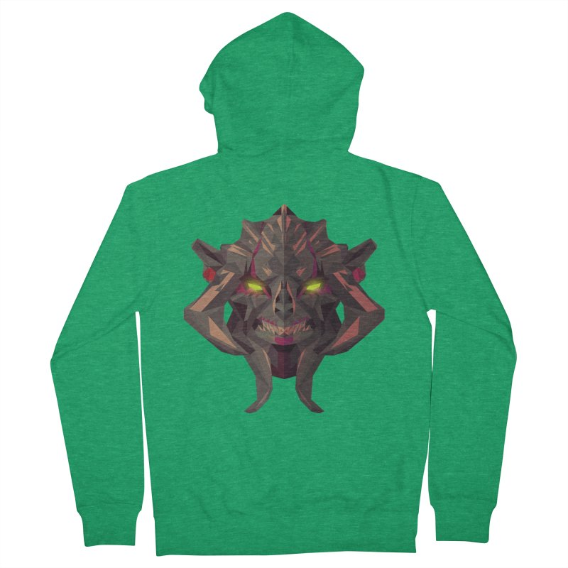 Low Poly Art - Huskar Women's Zip-Up Hoody by lowpolyart's Artist Shop