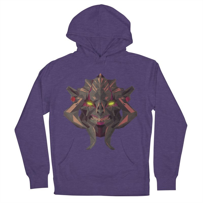 Low Poly Art - Huskar Women's French Terry Pullover Hoody by lowpolyart's Artist Shop