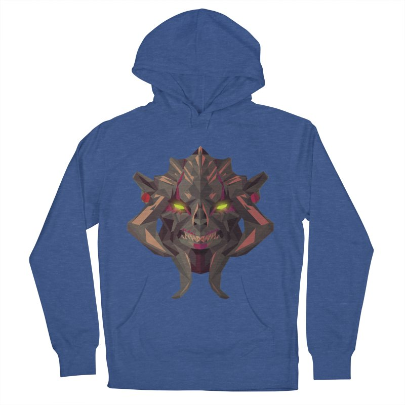Low Poly Art - Huskar Men's French Terry Pullover Hoody by lowpolyart's Artist Shop