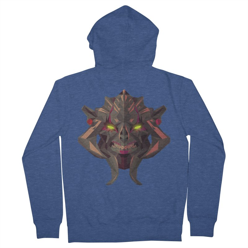 Low Poly Art - Huskar Men's French Terry Zip-Up Hoody by lowpolyart's Artist Shop
