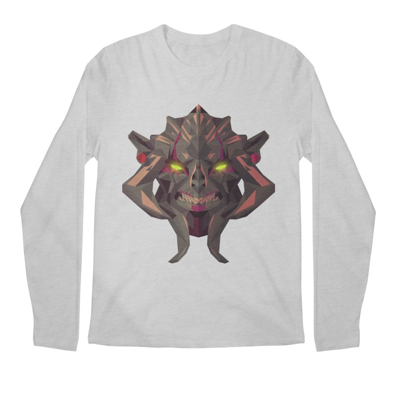 Low Poly Art - Huskar Men's Regular Longsleeve T-Shirt by lowpolyart's Artist Shop
