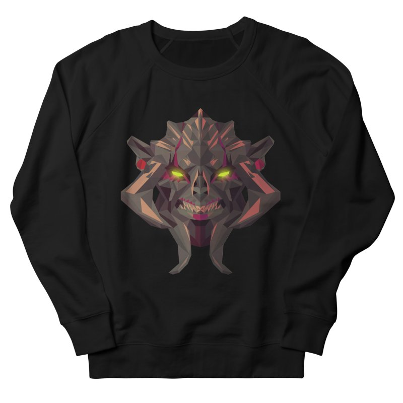 Low Poly Art - Huskar Women's French Terry Sweatshirt by lowpolyart's Artist Shop