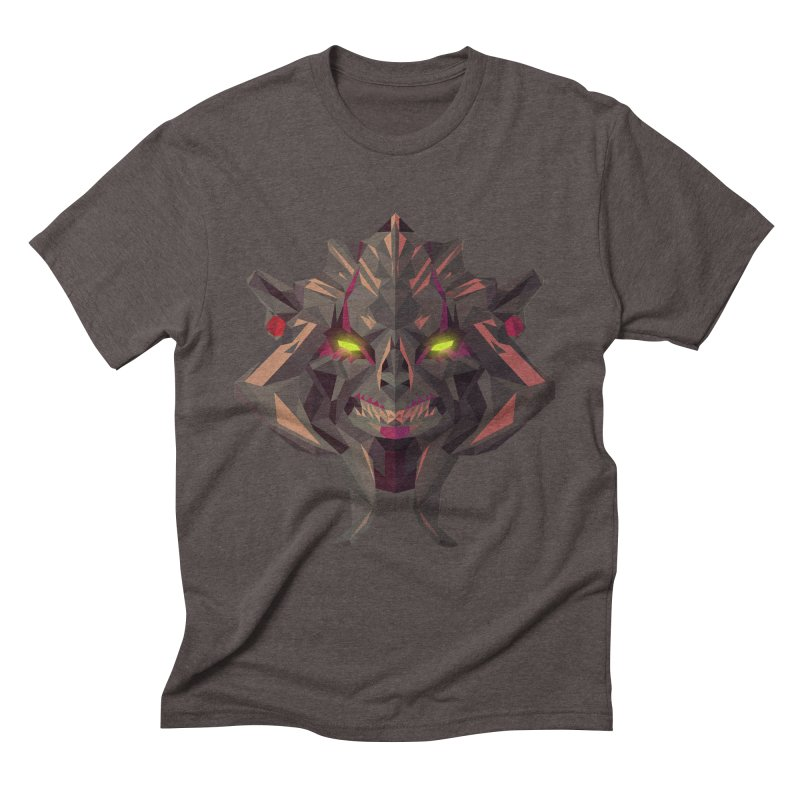 Low Poly Art - Huskar Men's Triblend T-Shirt by lowpolyart's Artist Shop