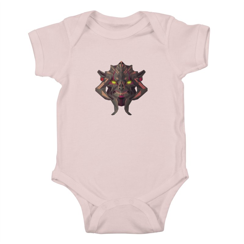 Low Poly Art - Huskar Kids Baby Bodysuit by lowpolyart's Artist Shop