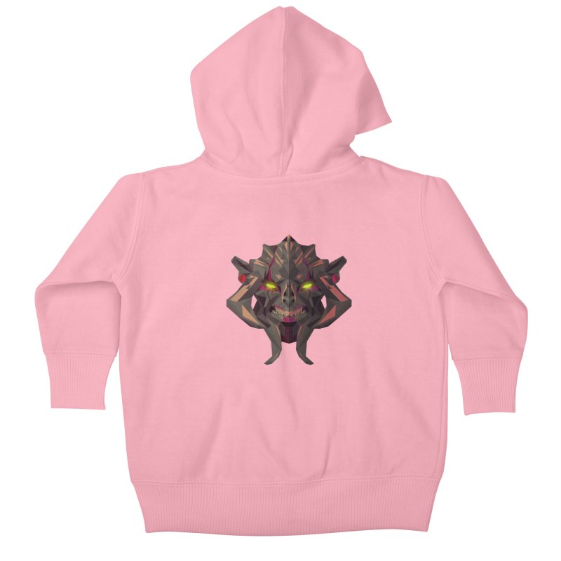 Low Poly Art - Huskar Kids Baby Zip-Up Hoody by lowpolyart's Artist Shop