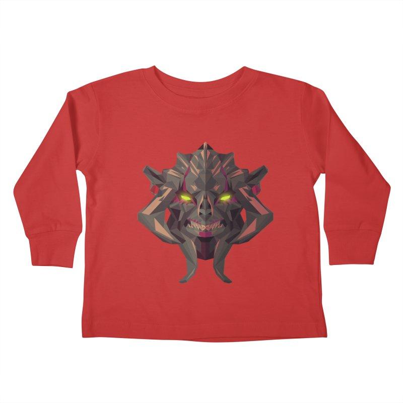 Low Poly Art - Huskar Kids Toddler Longsleeve T-Shirt by lowpolyart's Artist Shop