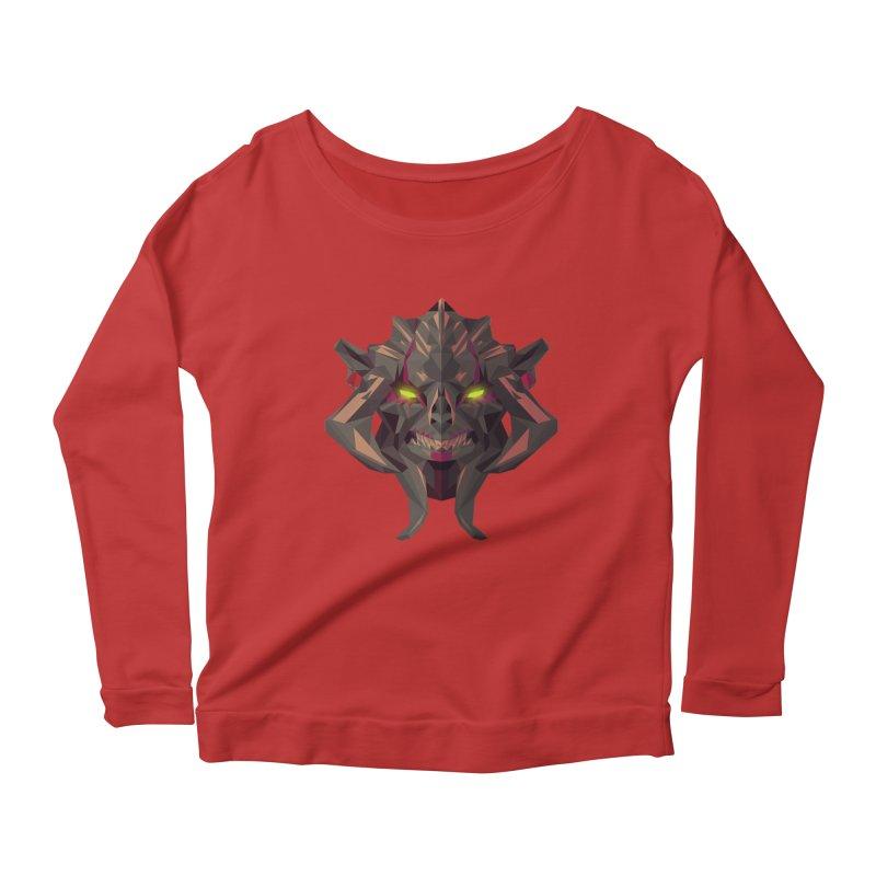 Low Poly Art - Huskar Women's Scoop Neck Longsleeve T-Shirt by lowpolyart's Artist Shop