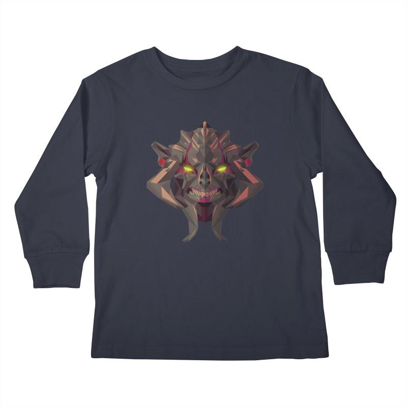 Low Poly Art - Huskar Kids Longsleeve T-Shirt by lowpolyart's Artist Shop