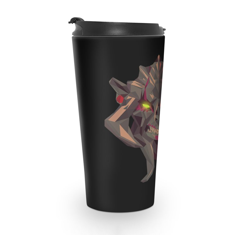 Low Poly Art - Huskar Accessories Travel Mug by lowpolyart's Artist Shop