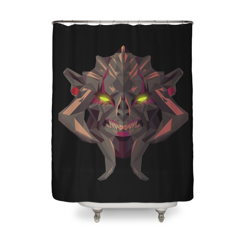 Low Poly Art - Huskar Home Shower Curtain by lowpolyart's Artist Shop