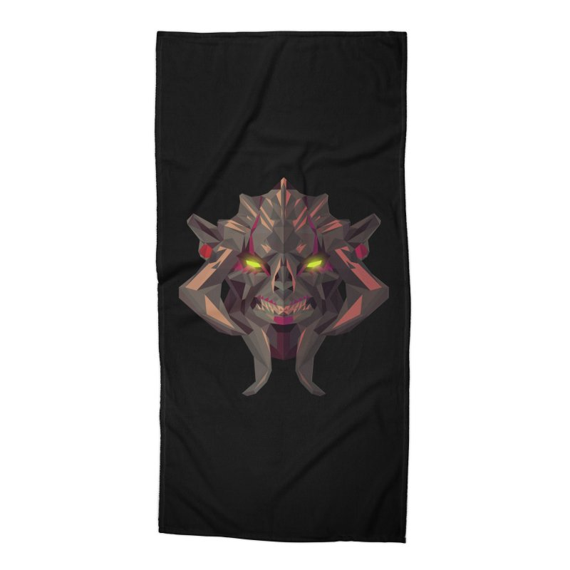 Low Poly Art - Huskar Accessories Beach Towel by lowpolyart's Artist Shop