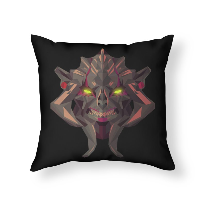 Low Poly Art - Huskar Home Throw Pillow by lowpolyart's Artist Shop
