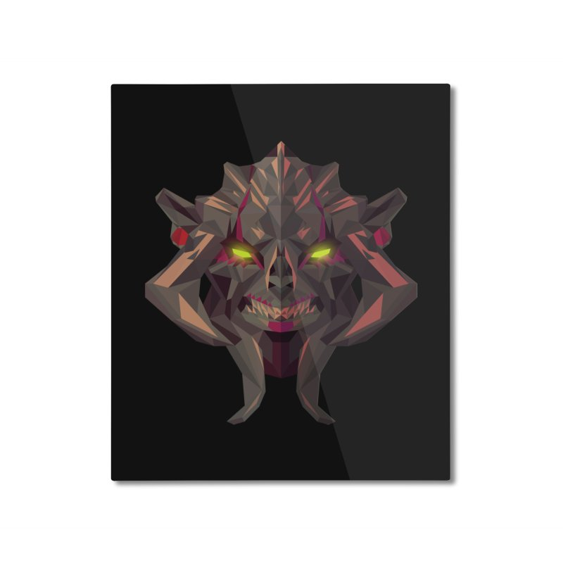 Low Poly Art - Huskar Home Mounted Aluminum Print by lowpolyart's Artist Shop