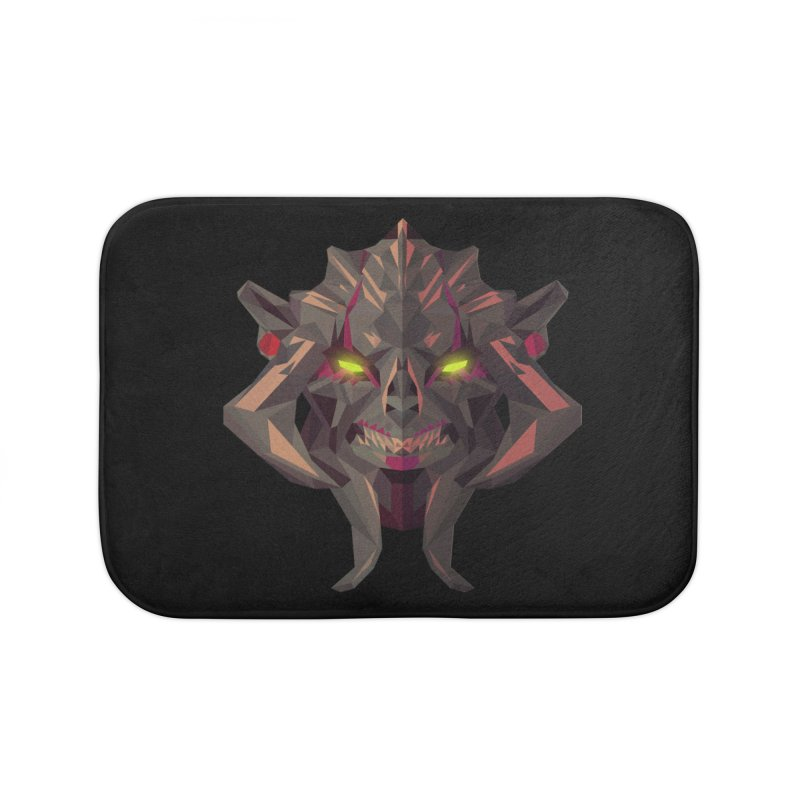 Low Poly Art - Huskar Home Bath Mat by lowpolyart's Artist Shop