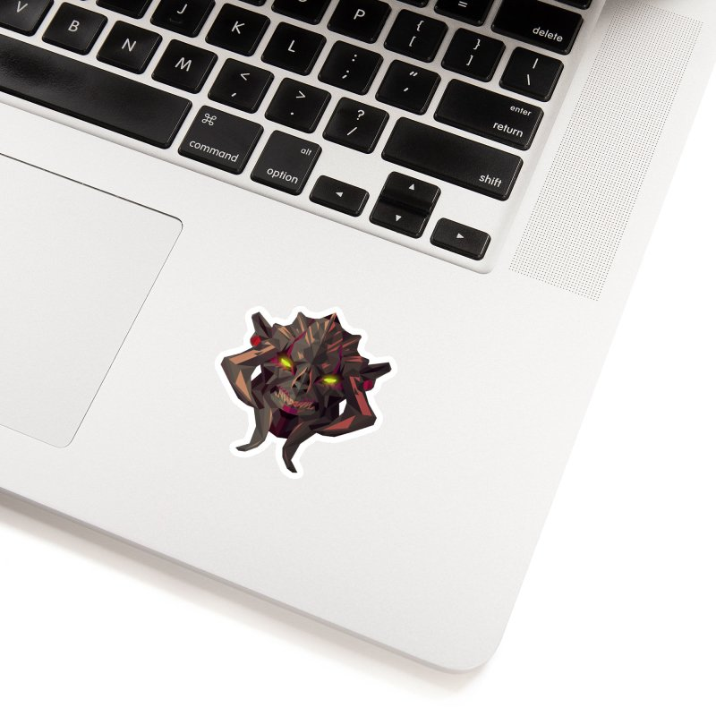 Low Poly Art - Huskar Accessories Sticker by lowpolyart's Artist Shop