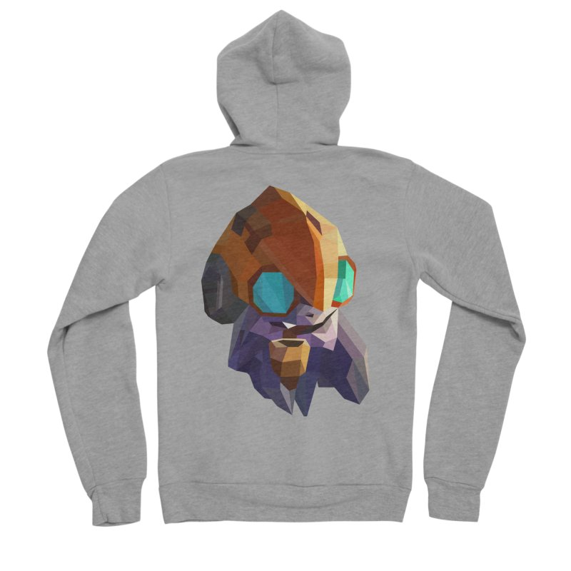 Low Poly Art - Tinker Men's Sponge Fleece Zip-Up Hoody by lowpolyart's Artist Shop