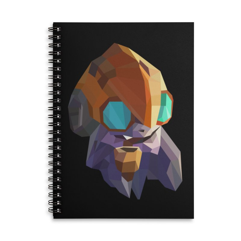 Low Poly Art - Tinker Accessories Lined Spiral Notebook by lowpolyart's Artist Shop