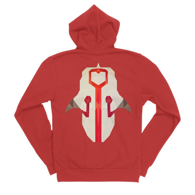 Low Poly Art - Juggernaut Women's Sponge Fleece Zip-Up Hoody by lowpolyart's Artist Shop