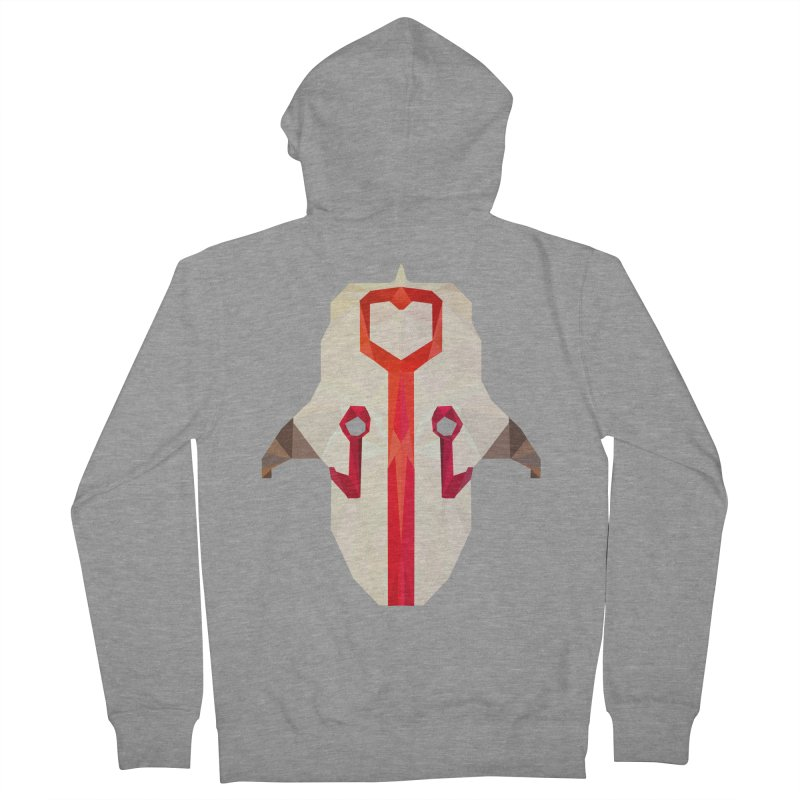 Low Poly Art - Juggernaut Men's French Terry Zip-Up Hoody by lowpolyart's Artist Shop
