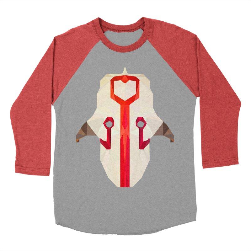 Low Poly Art - Juggernaut Men's Baseball Triblend Longsleeve T-Shirt by lowpolyart's Artist Shop