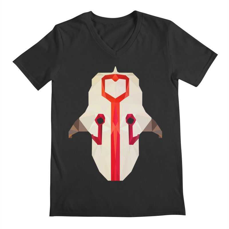 Low Poly Art - Juggernaut Men's Regular V-Neck by lowpolyart's Artist Shop