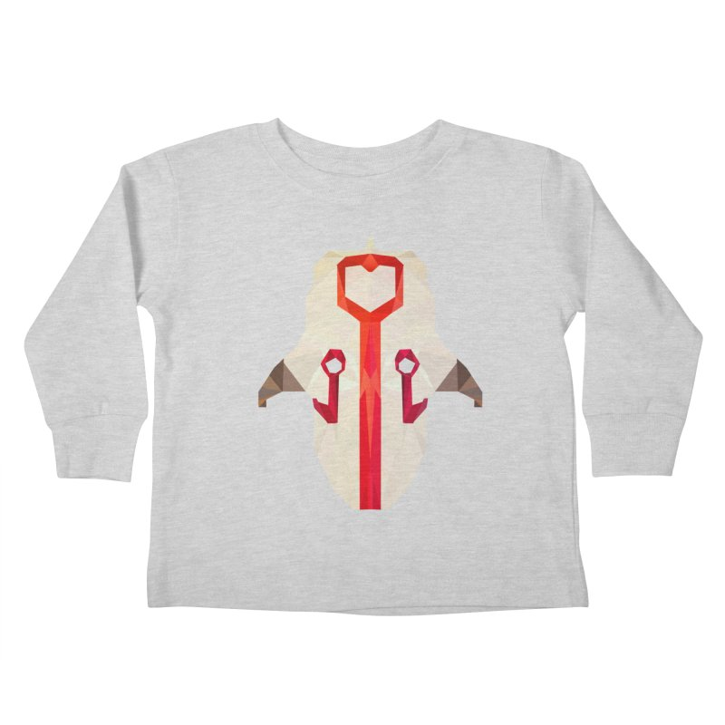 Low Poly Art - Juggernaut Kids Toddler Longsleeve T-Shirt by lowpolyart's Artist Shop