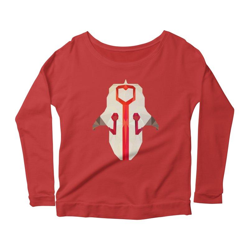 Low Poly Art - Juggernaut Women's Scoop Neck Longsleeve T-Shirt by lowpolyart's Artist Shop
