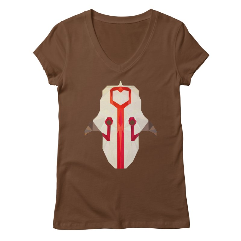 Low Poly Art - Juggernaut Women's Regular V-Neck by lowpolyart's Artist Shop