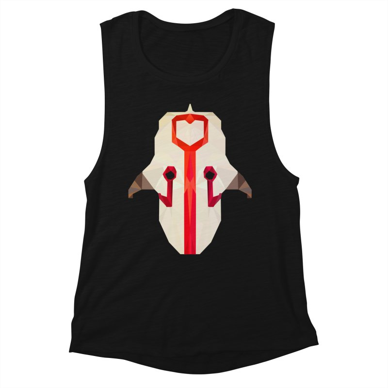 Low Poly Art - Juggernaut Women's Muscle Tank by lowpolyart's Artist Shop