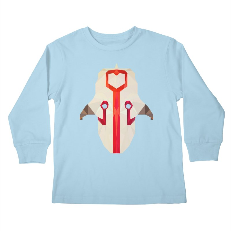 Low Poly Art - Juggernaut Kids Longsleeve T-Shirt by lowpolyart's Artist Shop