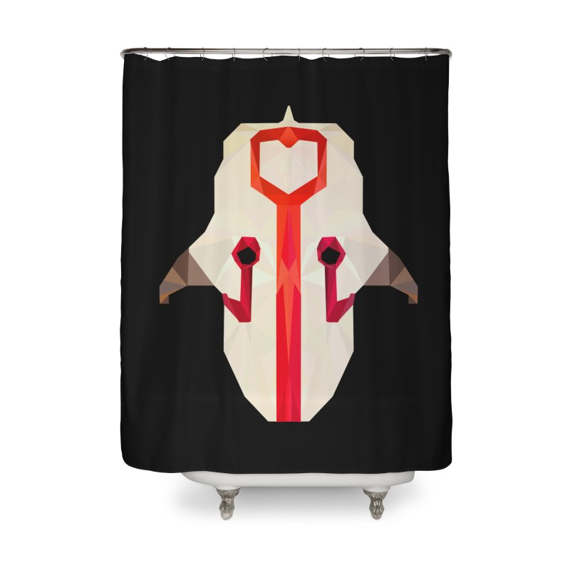 Low Poly Art - Juggernaut Home Shower Curtain by lowpolyart's Artist Shop