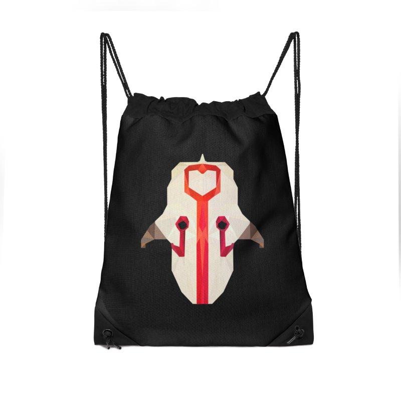 Low Poly Art - Juggernaut Accessories Drawstring Bag Bag by lowpolyart's Artist Shop
