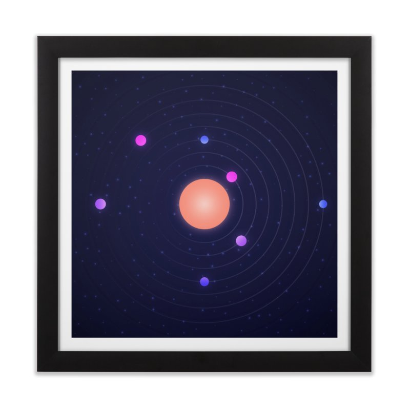 Exoplanet Circles Home Framed Fine Art Print by LS Creative Shop