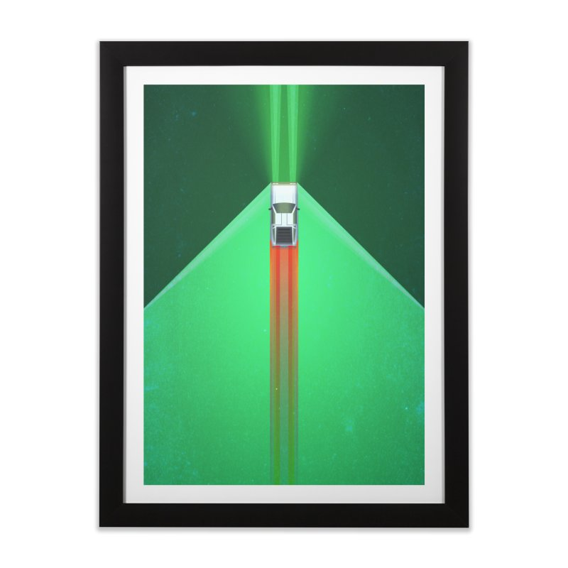 Roads? in Framed Fine Art Print Black by LS Creative Shop