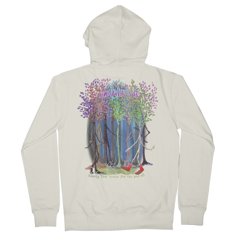 Sandalwoods Women's French Terry Zip-Up Hoody by Family Tree Artist Shop