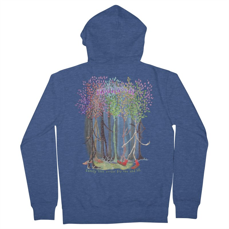Sandalwoods Men's Zip-Up Hoody by Family Tree Artist Shop