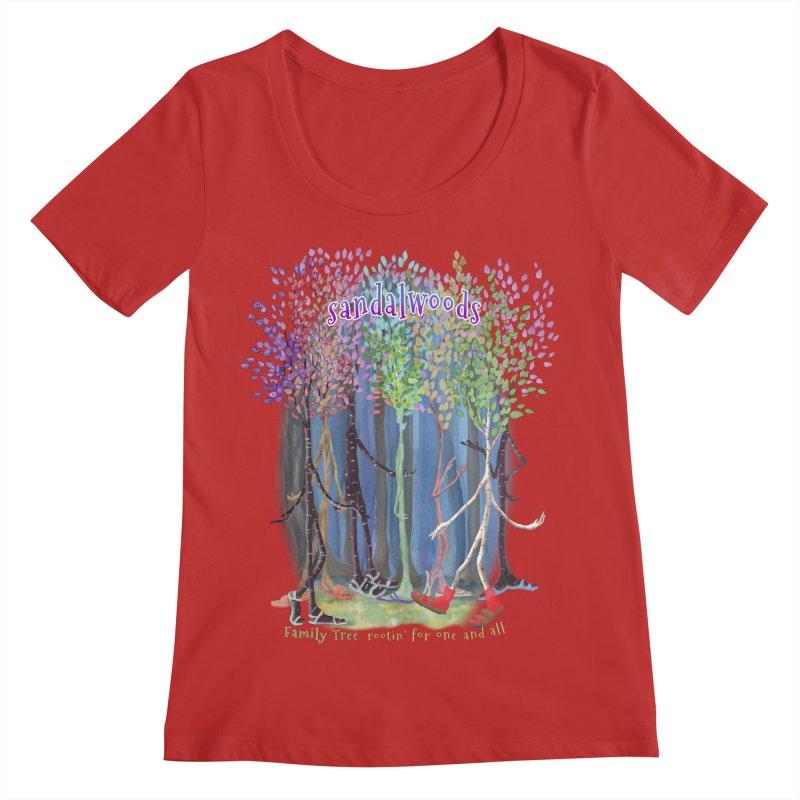 Sandalwoods Women's Regular Scoop Neck by Family Tree Artist Shop