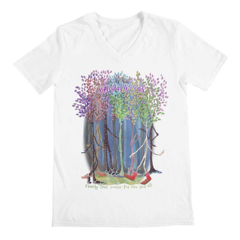 Sandalwoods Men's V-Neck by Family Tree Artist Shop