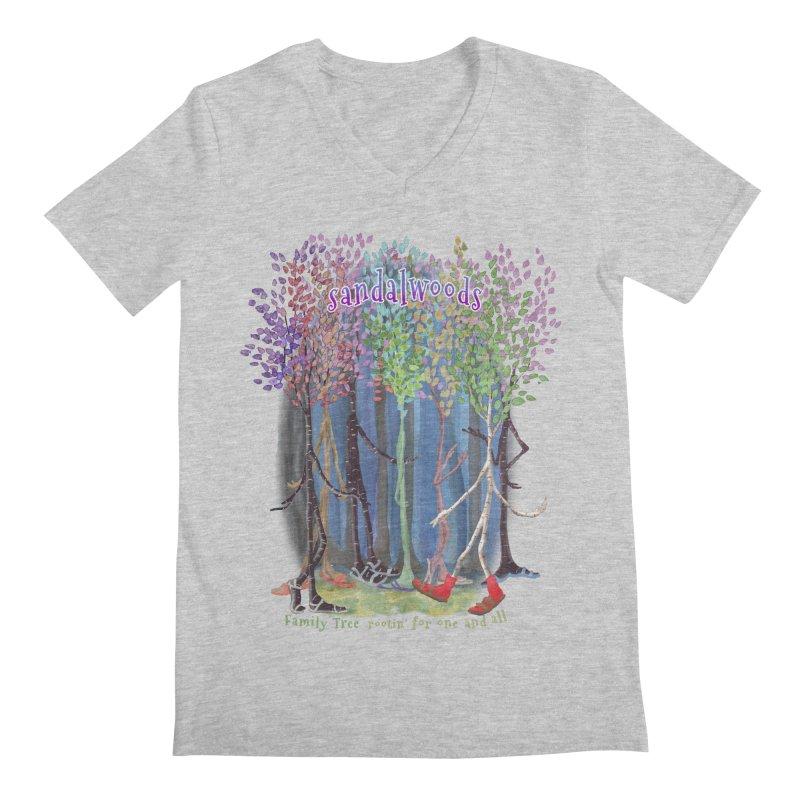 Sandalwoods Men's V-Neck by Family Tree Artist Shop