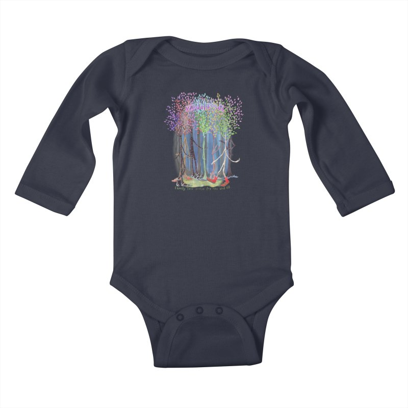 Sandalwoods Kids Baby Longsleeve Bodysuit by Family Tree Artist Shop
