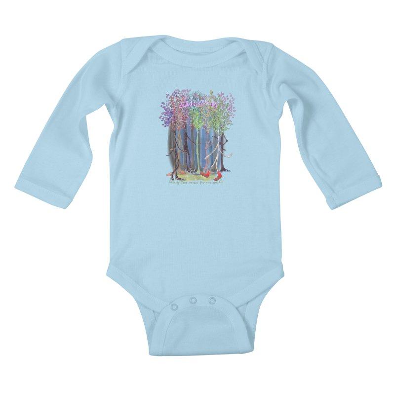 Sandalwoods Kids Baby Longsleeve Bodysuit by Family Tree Artist Shop