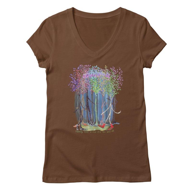 Sandalwoods Women's V-Neck by Family Tree Artist Shop