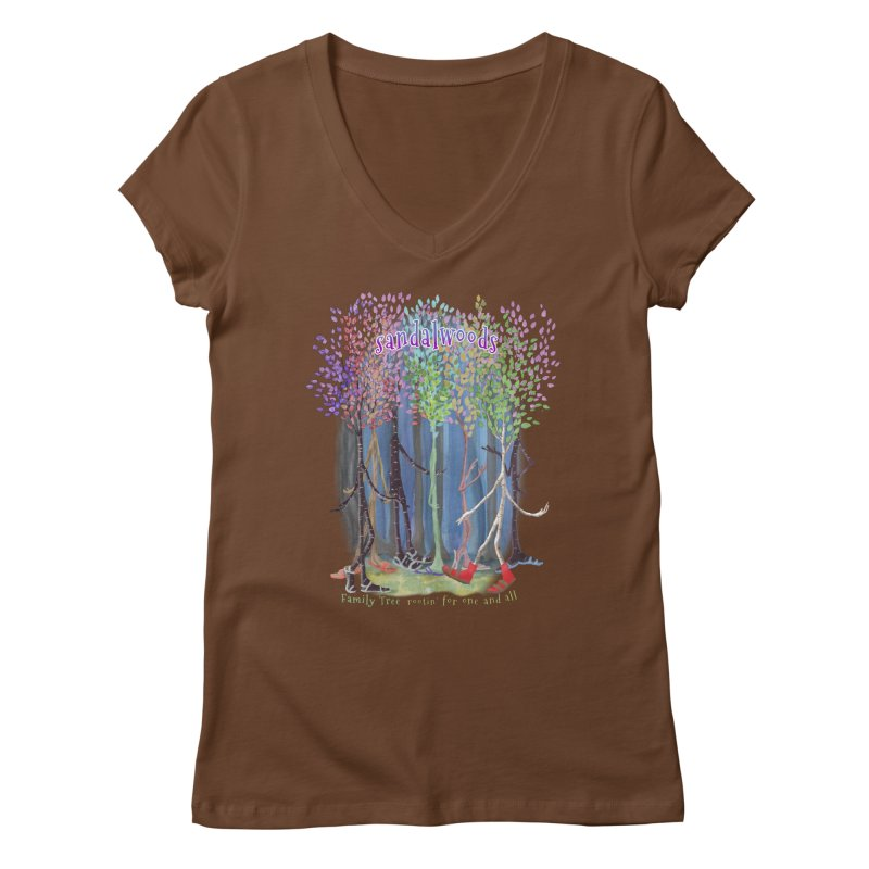 Sandalwoods Women's Regular V-Neck by Family Tree Artist Shop