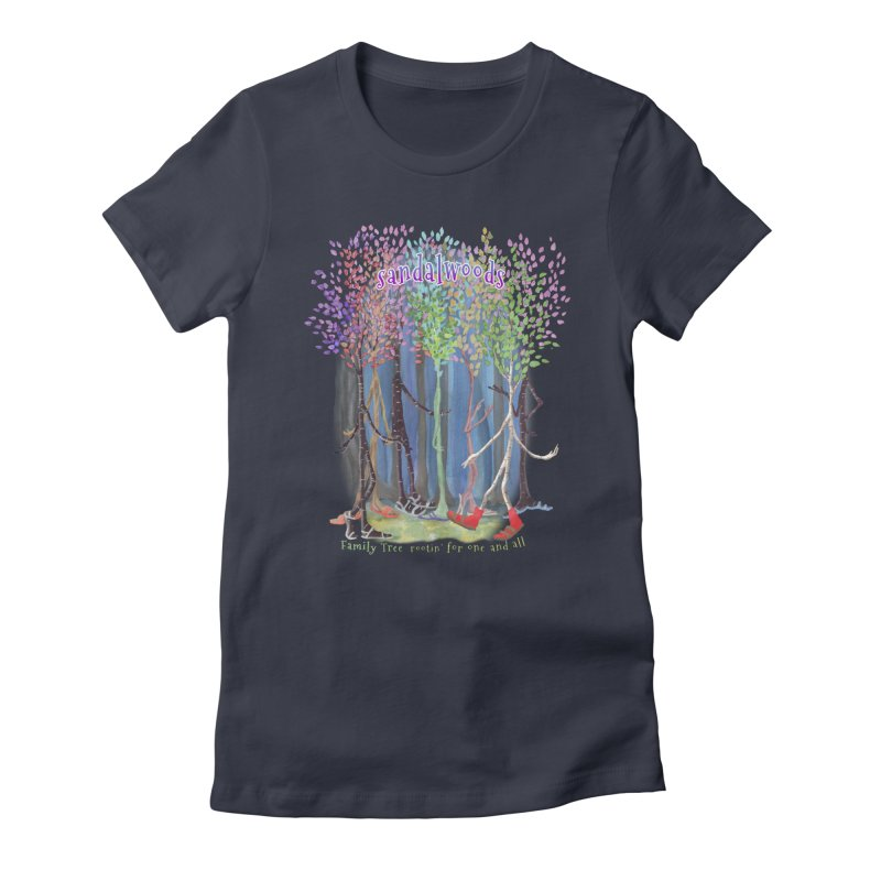 Sandalwoods Women's Fitted T-Shirt by Family Tree Artist Shop